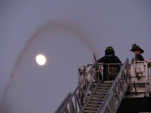 nighttime fire
